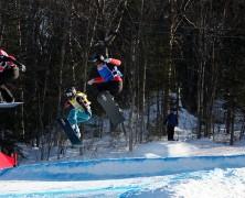 Snowboard in festa con Visintin