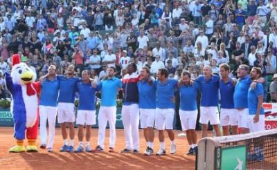 Francia in finale di Coppa Davis. Foto di Patrick Boren