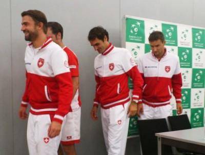 La squadra Svizzera di Davis. Foto di Paolo Rossi