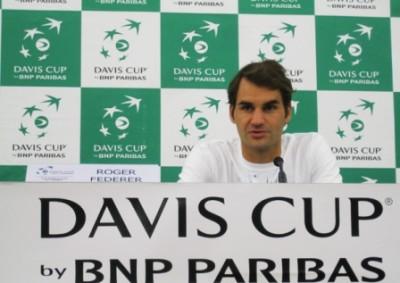 Roger Federer conferenza Foto di Paolo Rossi