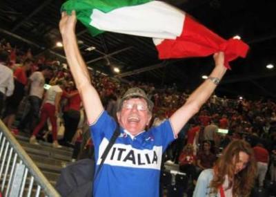 Tifoso Italia tennis. Foto di Paolo Rossi