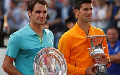 Djokovic vince a Roma battendo Federer, foto Brigitte Grassotti