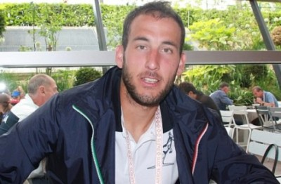 Luca Vanni al Roland Garros, foto Paolo Rossi
