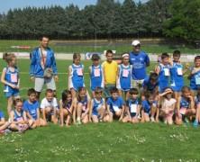 I giovani dell'Atletica Avis Sansepolcro al Trofeo di Bibbiena