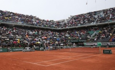 Roland Garros pioggia, foto Patrick Boren