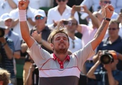Wawrinka vince il Roland Garros 2015, foto di Patrick Boren