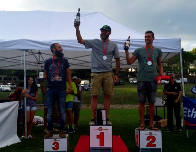 podio maschile duathlon città di Sansepolcro 2015