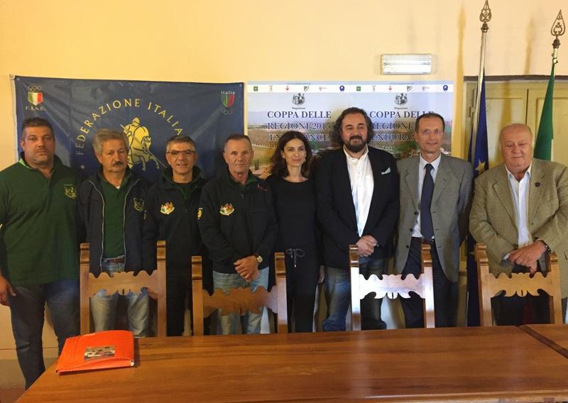 foto conferenza stampa Coppa Regioni Endurance 2015