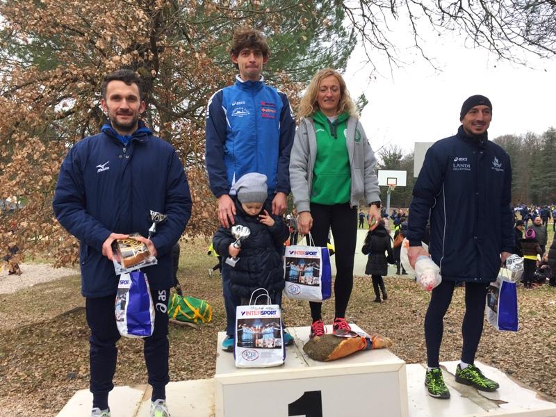 podio corsa campestre Anghiari 2016, vittoria Vergni