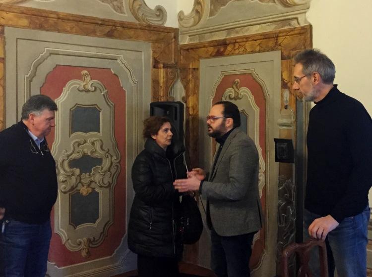 Andrea Zorzi con Laurenzi, Visibelli e Celli