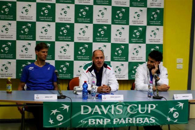 Conferenza Stampa Italia Coppa Davis 2016, foto Paolo Rossi