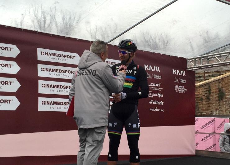 Sagan al via della Strade Bianche 2016