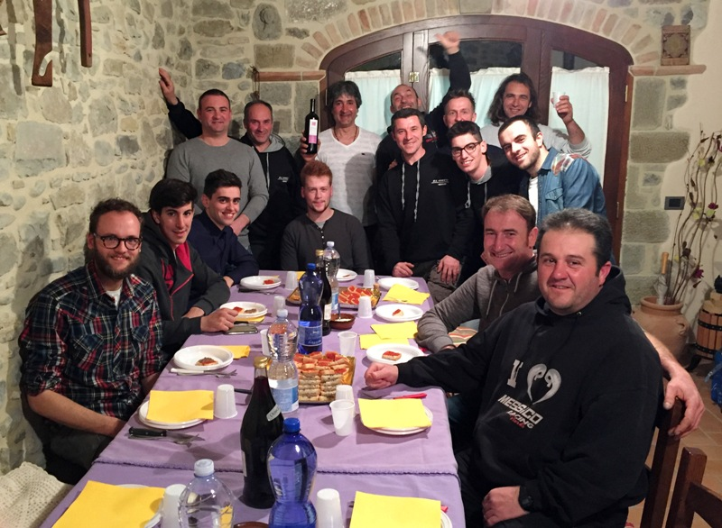 cena moto club adventures Anghiari con Mario Rinaldi