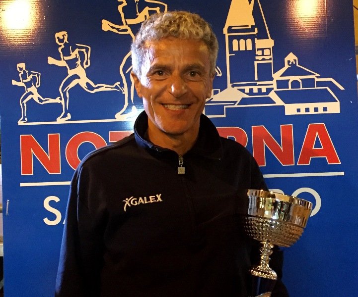 Marco Fiorucci vincitore categoria veterani e argento Notturna 2016