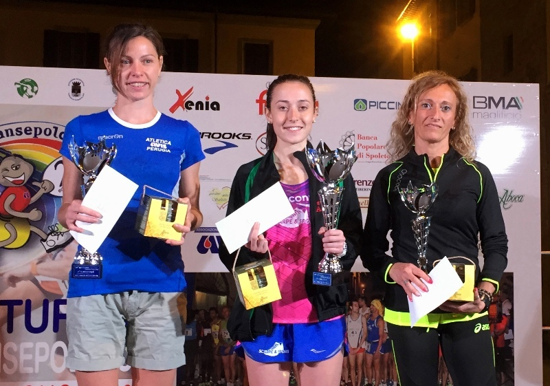 podio donne Notturna 2016