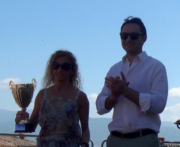 Roberta Belardinelli con il sindaco di Anghiari Polcri