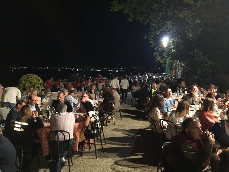 6. la cena sulle Mura Antiche di Anghiari