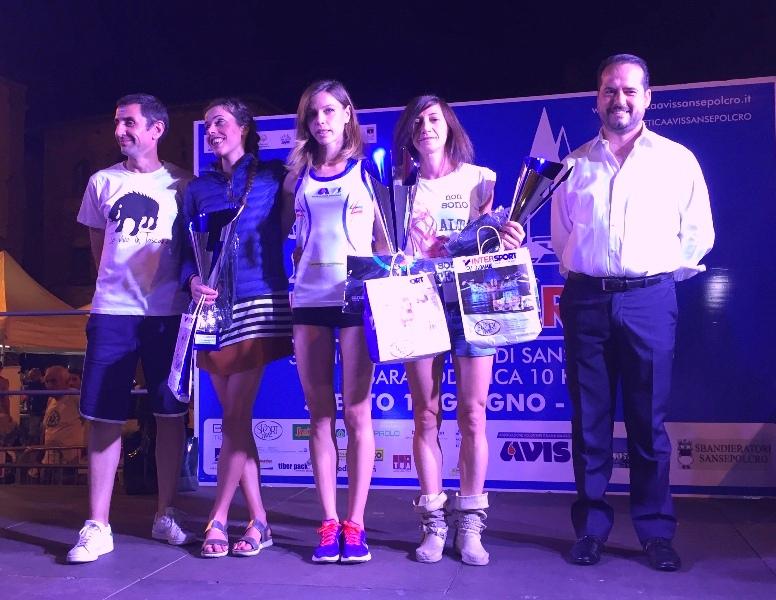 podio donne Notturna 2017