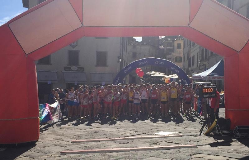 partenza trofeo fratres città di Anghiari 2017
