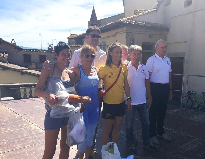 podio femminile 5° Trofeo Fratres Città di Anghiari