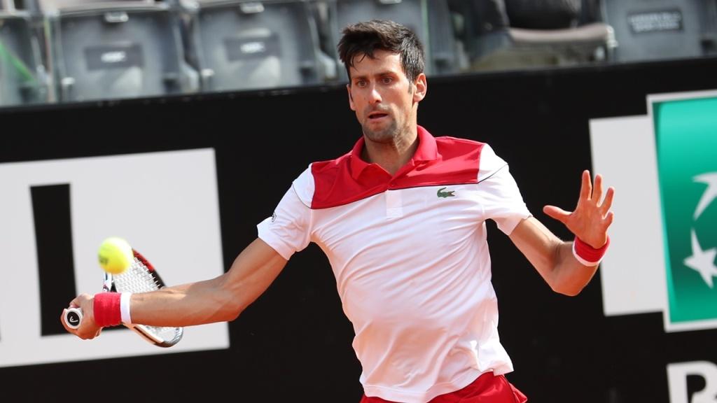 Djokovic a Roma, foto Brigitte Grassott