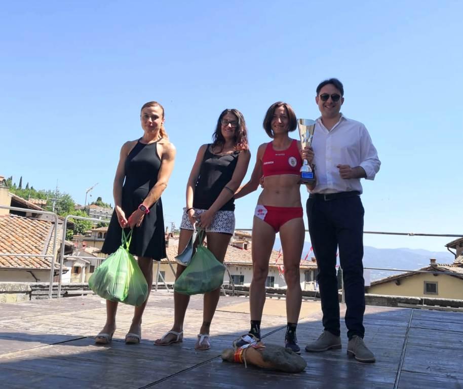 Podio femminileTrofeo Fratres Anghiari 2018